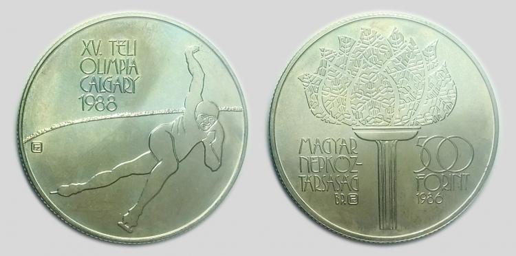 1986 Téli olimpia - Calgary 500 forint