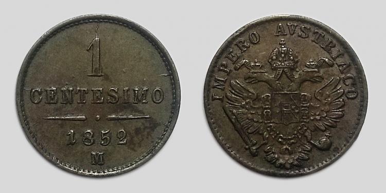 1852 Ferenc József 1 centesimo