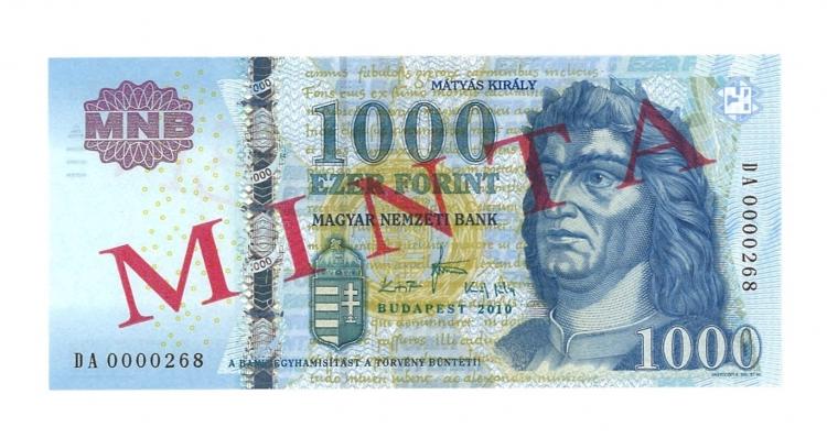 2010 1000 forint DA minta