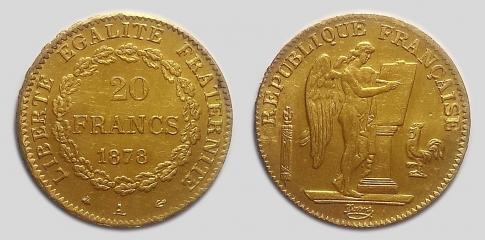 Francia Köztársaság 20 francs
