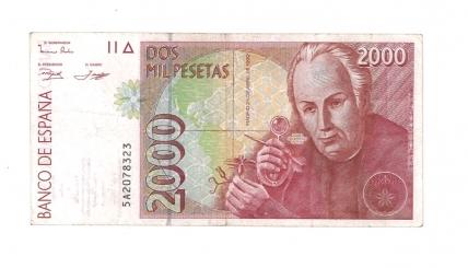 1992 2000 pesetas