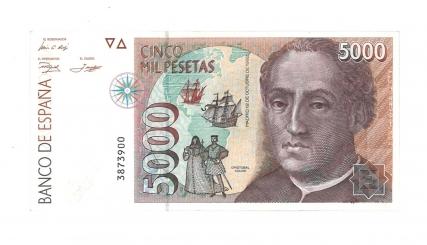 1992 5000 pesetas