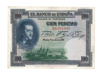 1925 100 pesetas