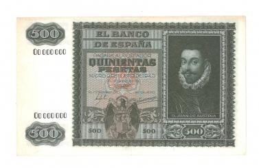 1940 500 pesetas specimen