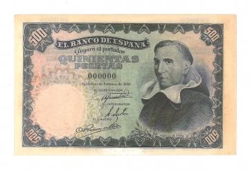 1946 500 pesetas specimen