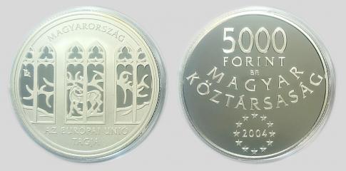 2004 Csatlakozás az Európai Unióhoz 5000 forint