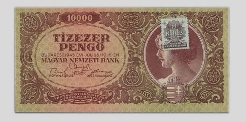 1945 10.000 pengő jó bélyeg