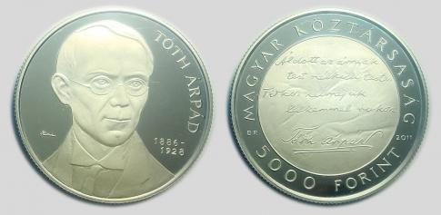 2011 Tóth Árpád 5000 forint