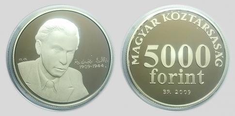 2009 Radnóti Miklós 5000 forint