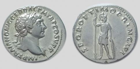 Traianus ezüst denar