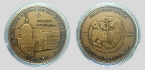 2020 Debrecen- Református Nagytemplom és Kollégium 2000 forint