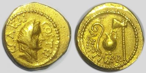 Iulius Caesar arany aureus