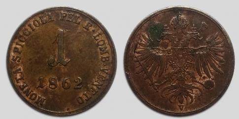 1862 1 soldo V Ferenc József