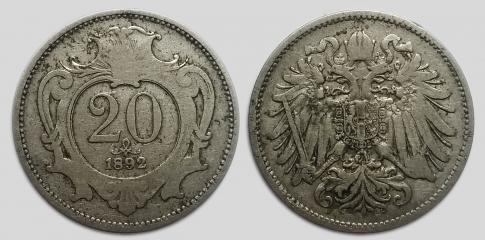 1892 20 heller Ferenc József