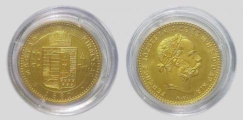 1880 Ferenc József 4 forint UV
