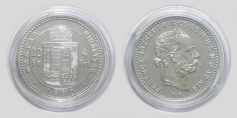 1880 4 forint Ferenc József ezüst UV