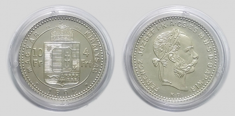 1892 4 forint Ferenc József ezüst UV