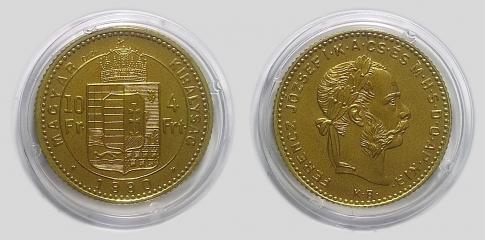 1880 4 forint Ferenc József réz UV