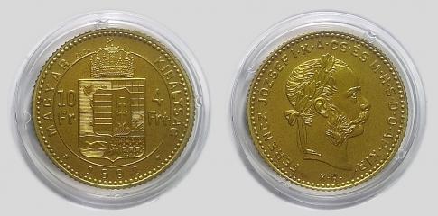 1892 4 forint Ferenc József réz UV