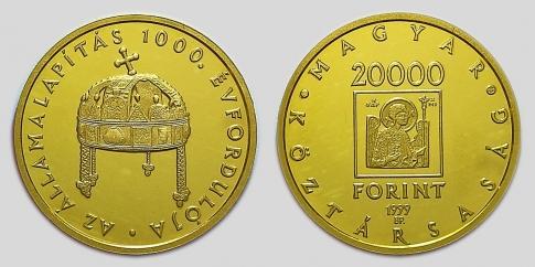 1999 Államalapítás 20000 forint
